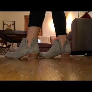 Taupe Suede Lucky Brand Booties
